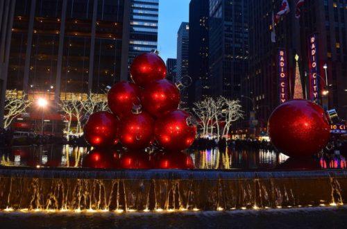 Weihnachtszeit Dekoration New York City