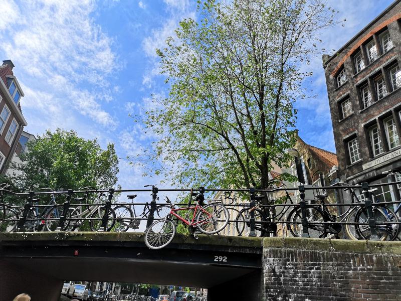 Fahrrad Gracht Amsterdam Fiets