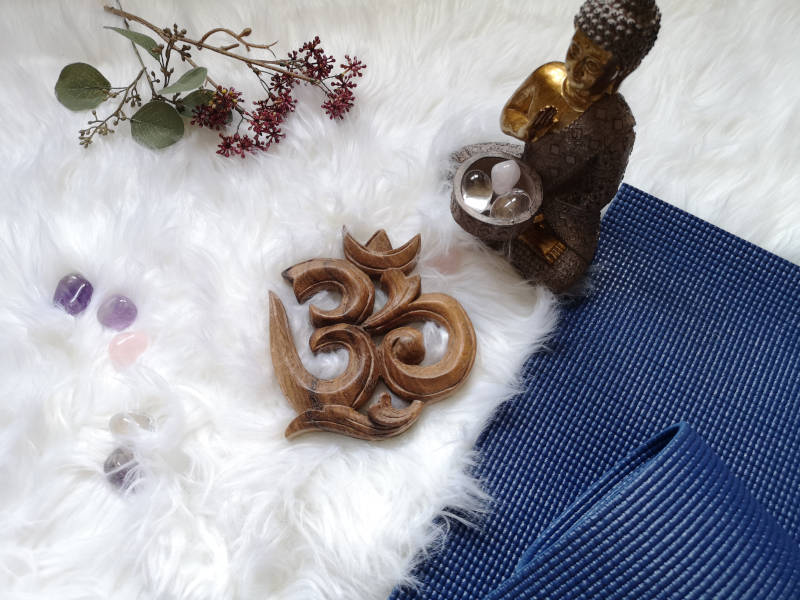 Yogamatte_OM_Buddha