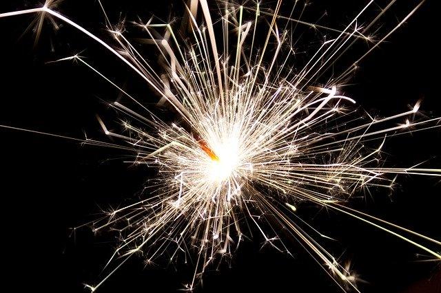 Silvester Neujahr Sparkle