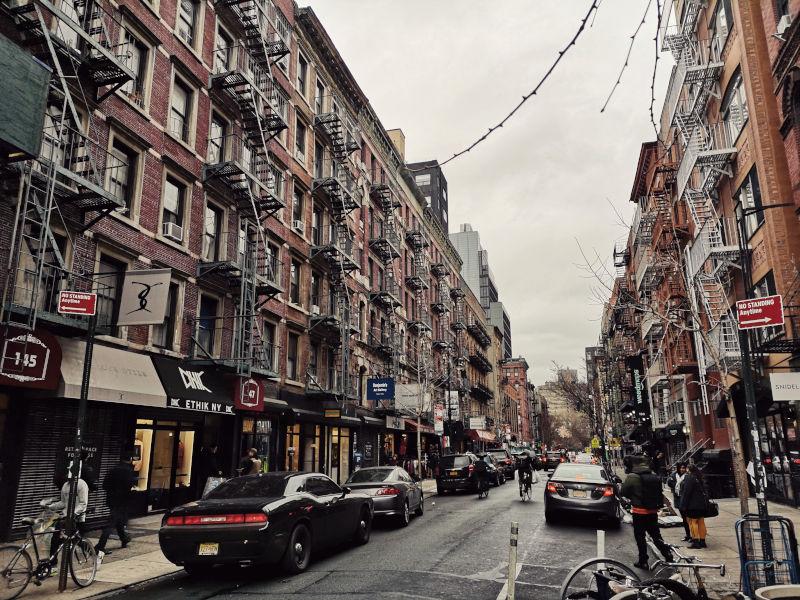 New_York_City_Häuser_Straße