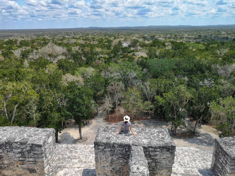 mexiko-yucatan-rundreise-calakmul-mayastätte-aussicht