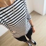 Schwarzweiß_monochromer Look_Lookbook_modeblog_streifenshirt_skinny jeans schwarz_vans