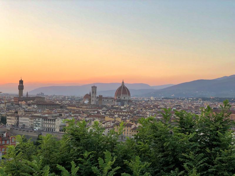 Piazzale Michelangelo Florenz Italienrundreise Modeblog Kulturblazer
