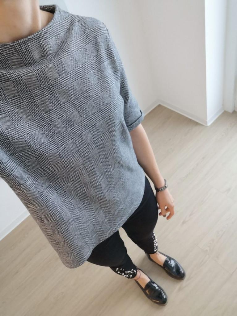 Karo_Muster_Lookbook_schwarze Jeans_schwarze Loafer